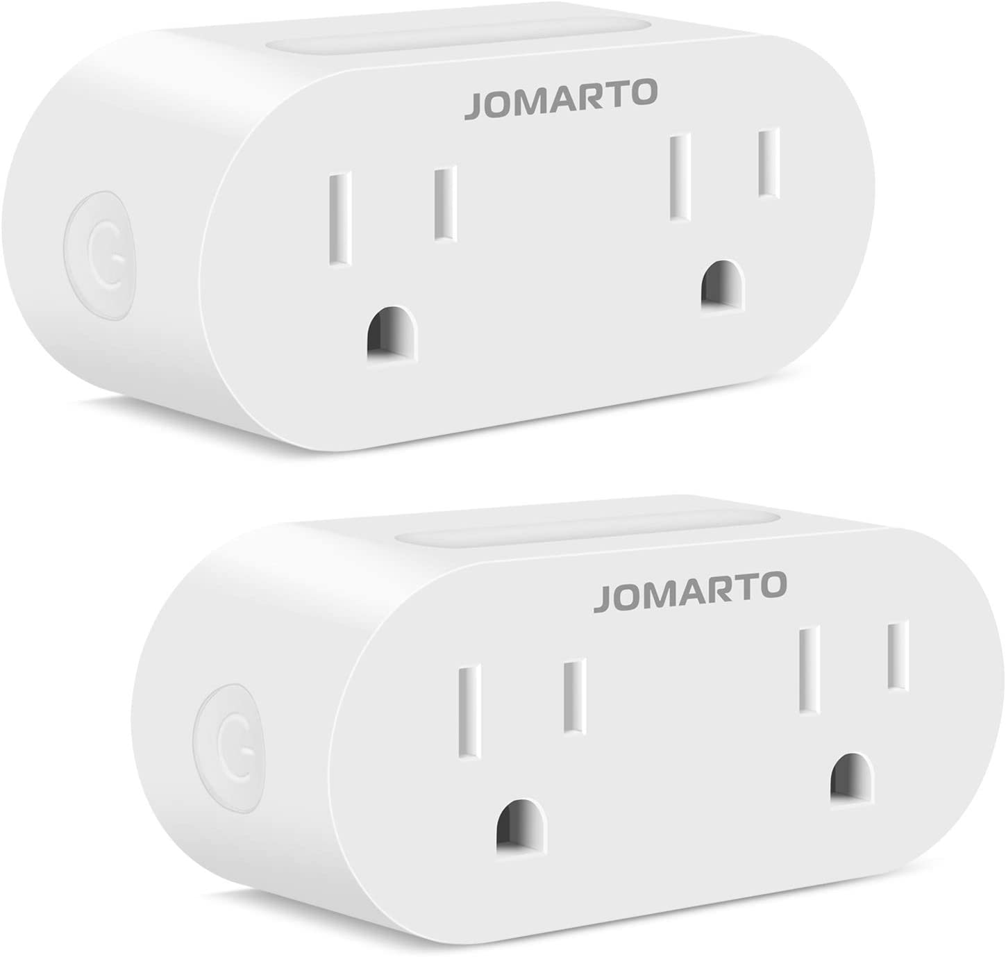 WiFi Smart Plug Outlet, 2 Pack Mini Smart Socket Compatible with Alexa, Google Home and IFTTT, APP Remote Control and Timer Function No Hub Required (Two Rectangle)