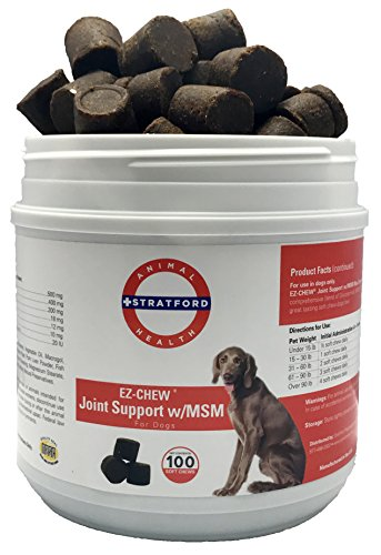 Stratford Pharmaceuticals EZ-Chew Max Strength Joint Support w/Glucosamine Chondroitin MSM (100 Soft Chews)