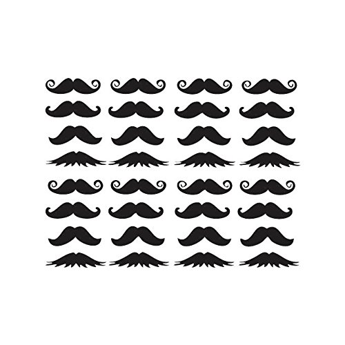 (Omega Moustaches Vinyl Decal Sheet - Small -)