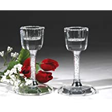 """CRYSTAL WORLD """"Candle Stick Holder 4"""" set of two"""""""