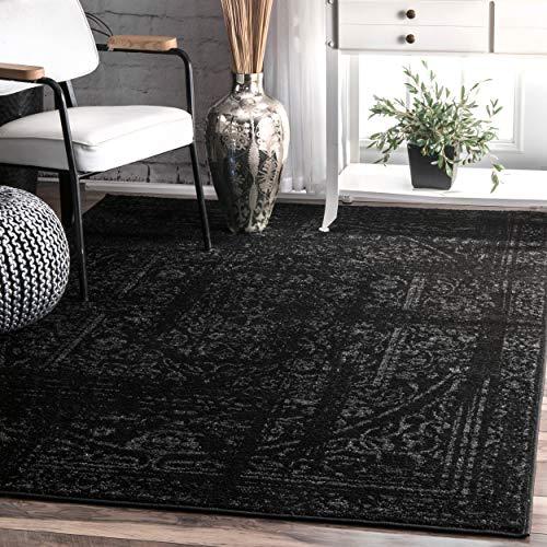 nuLOOM Arlena Vintage Area Rug, 4 x 6 , Black