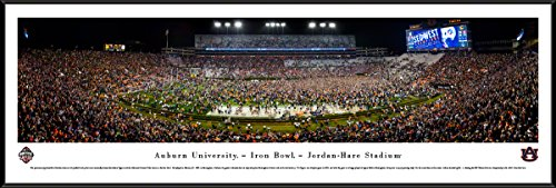 Hare Framed Print (Auburn Tigers Football (Iron Bowl 2017) - Blakeway Panoramas Poster with Standard Frame)