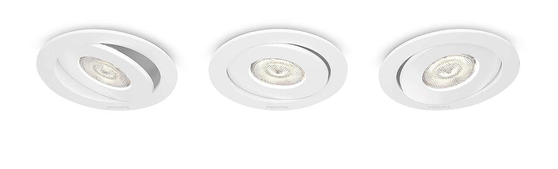3 Empoules Philips Lighting Asterope Einbau, Metall, 4.5 W, Weiß
