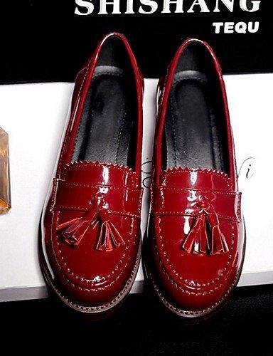ZQ Damenschuhe – High Heels unter – Runde Spitze – – Spitze oxfords – Außen/Büro & Arbeit/Casual semicuero – Schwarz/Rot Rot. US 8/EU 39/UK 6/CN 39 f3dbfc