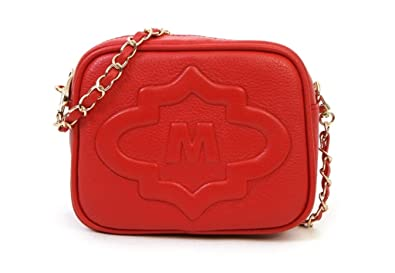 77990288bbcf Metrocity Josephine Leather Red Cross Bag: Handbags: Amazon.com