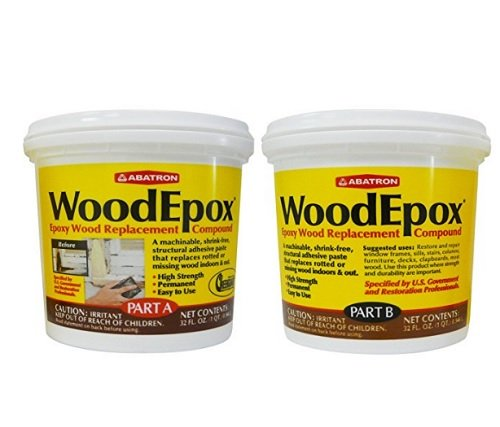 Abatron WoodEpox Epoxy Wood Replacement Compound, 2 Quart Kit, Part A & B