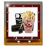 3dRose dc_13397_1 Desk Clock, Movie Magic, 6 by 6-Inch