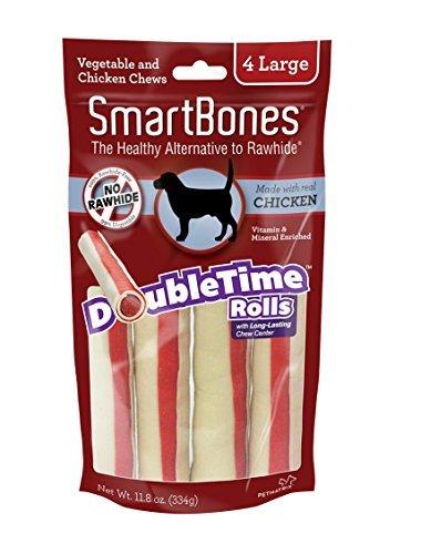 Smartbone DoubleTime Chicken Dog Chew FamilyValue 5Pack (Large-4Pieces) Ạfïs