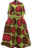 LD Womens Casual Half Sleeve Shirt Big Hem Skirts Africa Print Evening Outfit 1 S