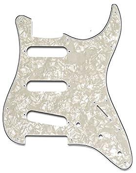 Golpeador Pickguard para guitarra eléctrica Stratocaster blanco ...