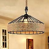 Collector Retro Vintage Hängende lámpara colgante industriales iluminación de techo para cocina, salón, dormitorio, Cafe, restaurante, comedor decoración 380mm) (