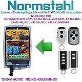 Normstahl compatible Récepteur portail. Universal 2-canaux Récepteur pour Normstahl EA433 2KM, EA433 4KM, RCU433 2K, RCU433 4K télécommandes. 12-24V AC/DC