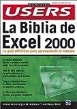 La Biblia de Excel 2000, Claudio Sanchez, 9875260657