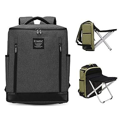 9edd07f1a0c Dulcii Folding Stool Backpack Multi-functional 20-35L Shoulders Bag Camping  Seat 80%