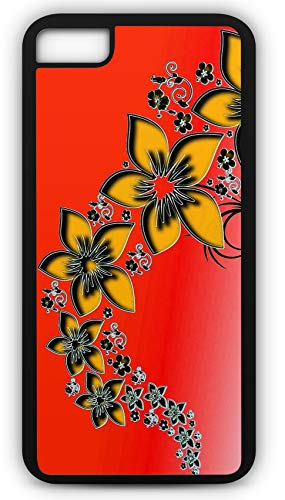 iPhone 8 Case Rising Flower Pattern Computer Generated Background Customizable by TYD Designs in Black Plastic Black Rubber Tough Case (Rising Computer Dead)