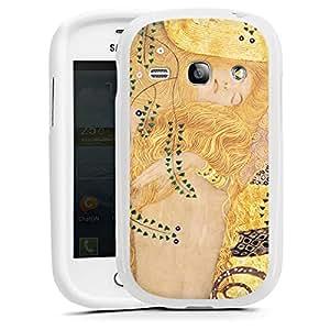 Samsung Galaxy Alpha Funda Premium Case Protección cover Klimt Agua serpentinas sintética