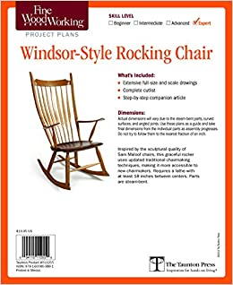 fine woodworking s windsor style rocking chair plan editors of fine