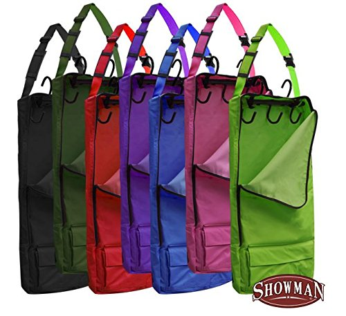 Showman Colored Cordura Nylon Halter Bridle Bag Carrier with 5 Hooks 30
