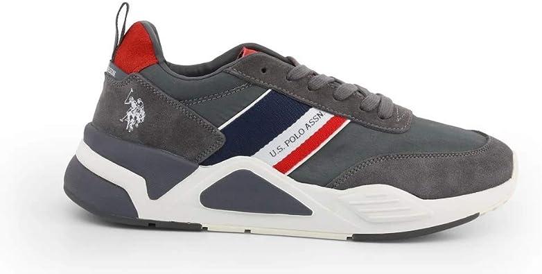 Sneaker Running US Polo Mod. Dave in Suede/Nylon Dark Grey uomo ...
