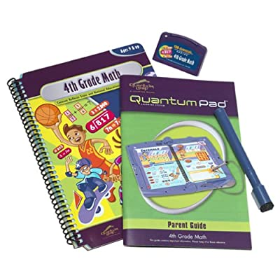 Quantum Pad: 4th Grade Math Interacative Book and Cartridge: Toys & Games