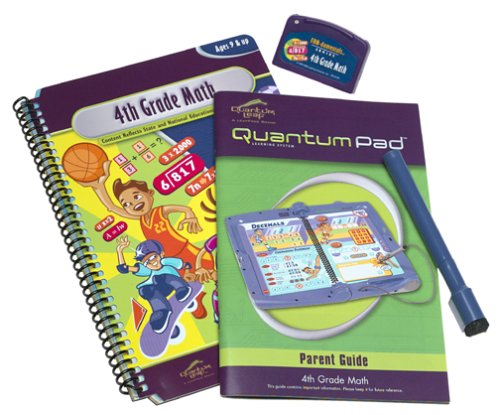 Quantum Pad: 4th Grade Math Interacative Book and Cartridge