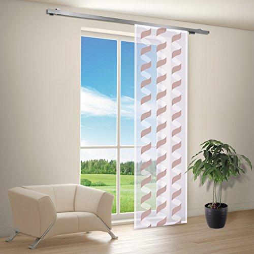 Gardine / Vorhang / Schiebegardine / Schiebevorhang / Flächenvorhang SPIRA / Schiebevorhang B/H: 60x245cm / Halbtransparente Qualität / Scherli Effekt (braun)