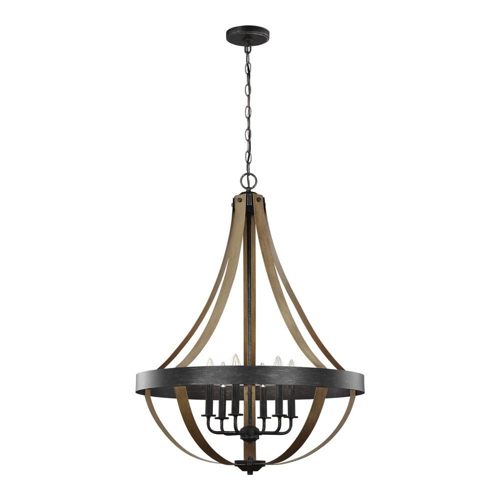 Sea Gull Lighting 6551106-846 Six Light Pendant Stardust