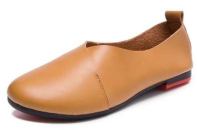 Womens Genuine Leather Comfort Glove Shoes Ballet Flats  QDB5TL3E8