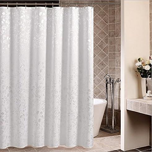 beddingleer dicker 180cm x 180cm wasserdicht und mildewproof dusche vorhang gre stoff badezimmer dusche vorhang mit - Stoff Vorhang Dusche
