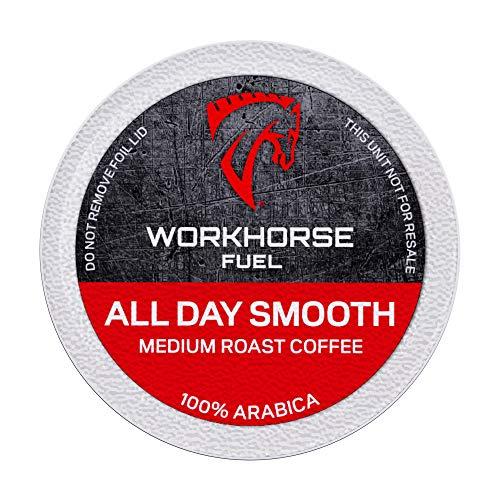 Workhorse Coffee Single Serve K-Cup Coffee Pods, 18 Count Box (Medium Roast)