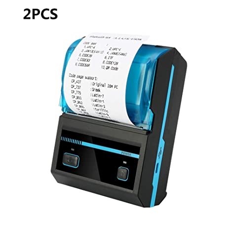 ZUKN Impresora Térmica De Etiquetas Bluetooth Inalámbrica Portátil ...