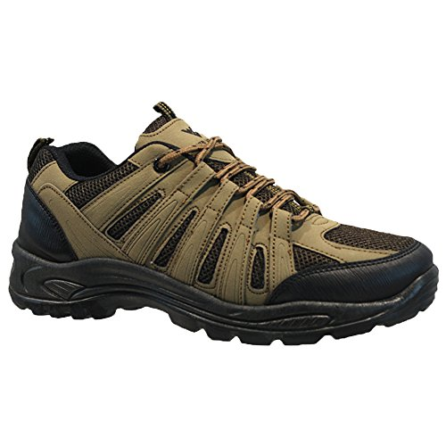 Wyre Valley Mens Lace up Trail Winter Walking Hiking Winter Work Ankle Boots Shoes Trainers Brown