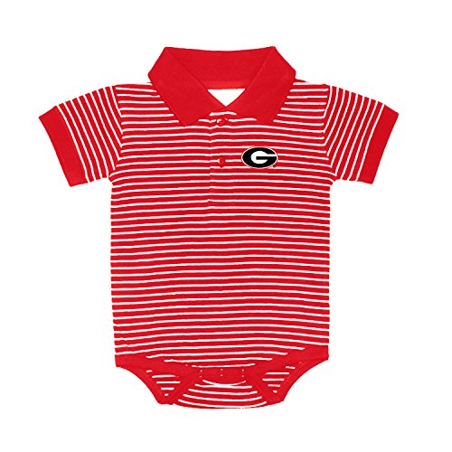 Georgia Bulldogs NCAA College Newborn Infant Baby Striped Golf Creeper (12 Months) ()