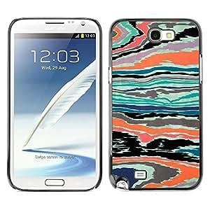 Be Good Phone Accessory // Dura Cáscara cubierta Protectora Caso Carcasa Funda de Protección para Samsung Note 2 N7100 // Texture Abstract Psychedelic Color