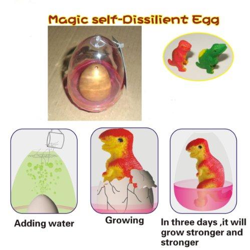 t Dinosaur Egg (1). Color: GOLD, with Hatchery Dome Kit Ready to Hatch a New Born Baby Dinosaur. (Hatchery Kit)