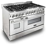ZLINE 48 in. 4.6 cu. ft. 8 Gas Burner/Electric Oven Range in Stainless Steel (RA48)