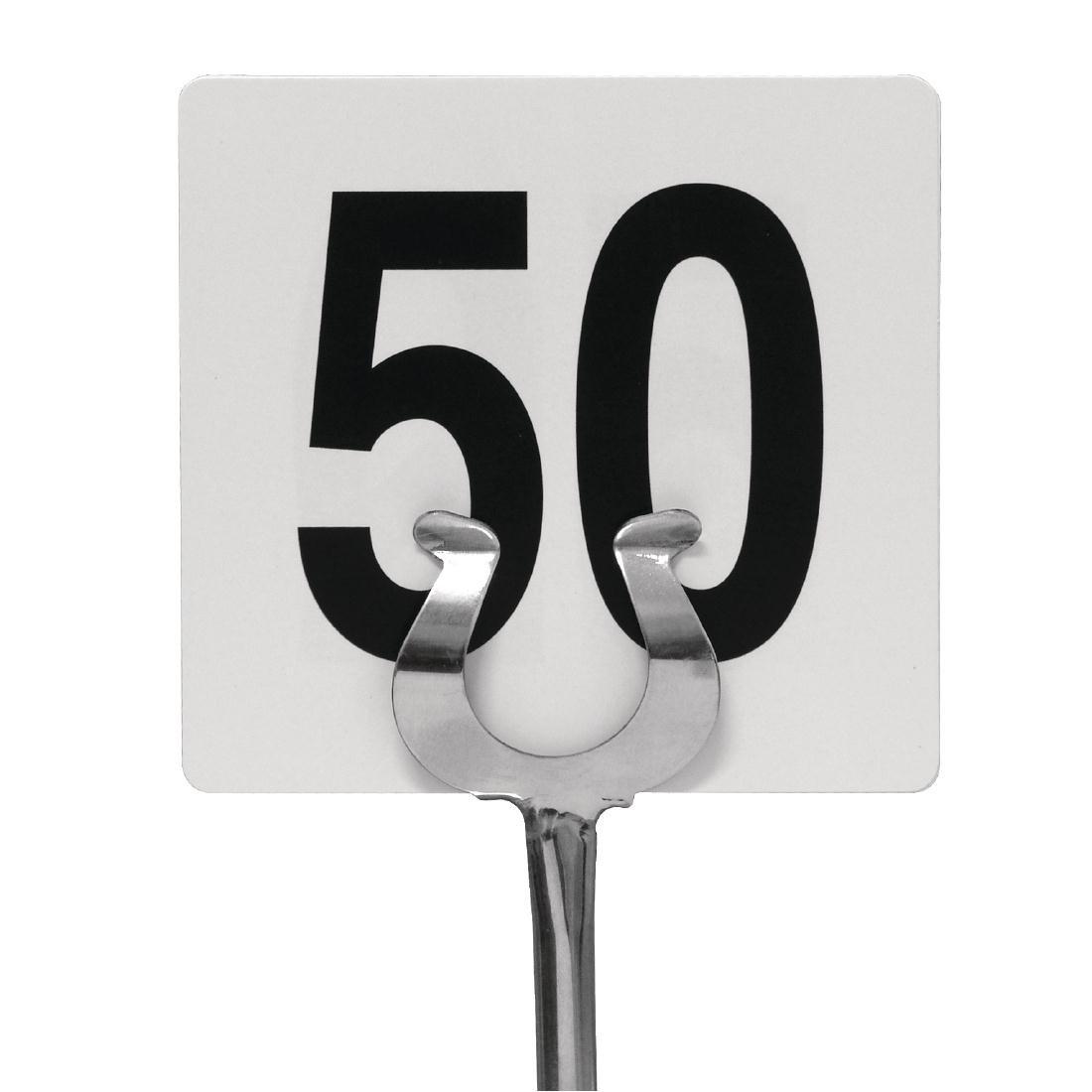 numéros de table 1–5095x 100mm Mariage Pubs clubs de restaurant Cafe Bar Nisbets 8503