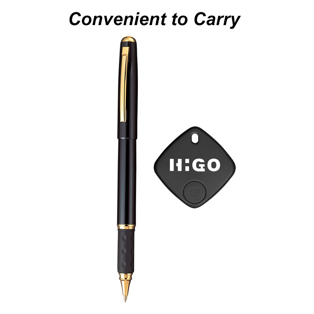 Higo Wireless Key Finder, Bluetooth Remote Control Smart Item Finder with IOS& Android APP, Anti-Lost Alarm Sensor for Keys, Purse, and Phones (Black)