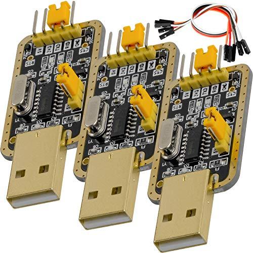 AZDelivery 3 pcs UART-TTL USB Adaptador con