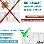 KidDough Baby Proofing Electrical Protector Socket Plug Cover Guards | Open Sockets Guard | Electric Plugs Cover | Baby…
