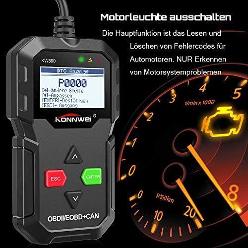 OBD2 escáner de diagnóstico KONNWEI kw590 clásica mejorada ...