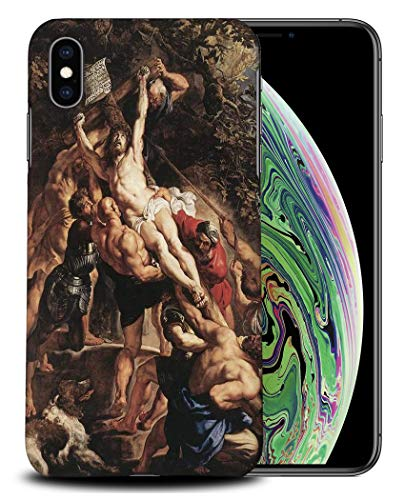 Foxercases Designs #1 - Peter Paul Rubens - Elevation of The Cross I Art Art Painting Sketch Hard Case Cover for Apple iPhone Xs Max