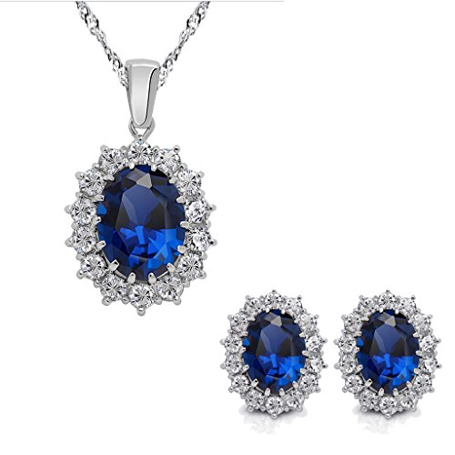 Mothers Crystal Necklace Earrings Princess product image
