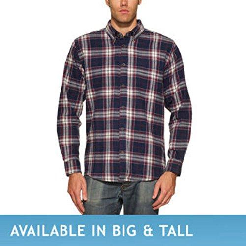 Weatherproof® Vintage Men's Lightweight Flannel Shirt. Long Sleeve, 6oz Flannel, Button-down Collar