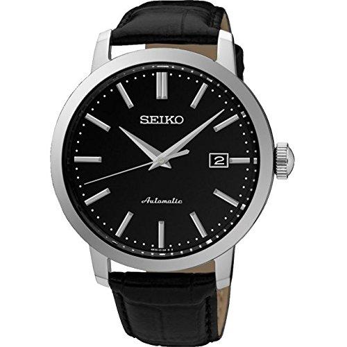Reloj de Hombre Seiko Neo Classic Automático, Esfera Negra, Calibre 4R35: Amazon.es: Relojes