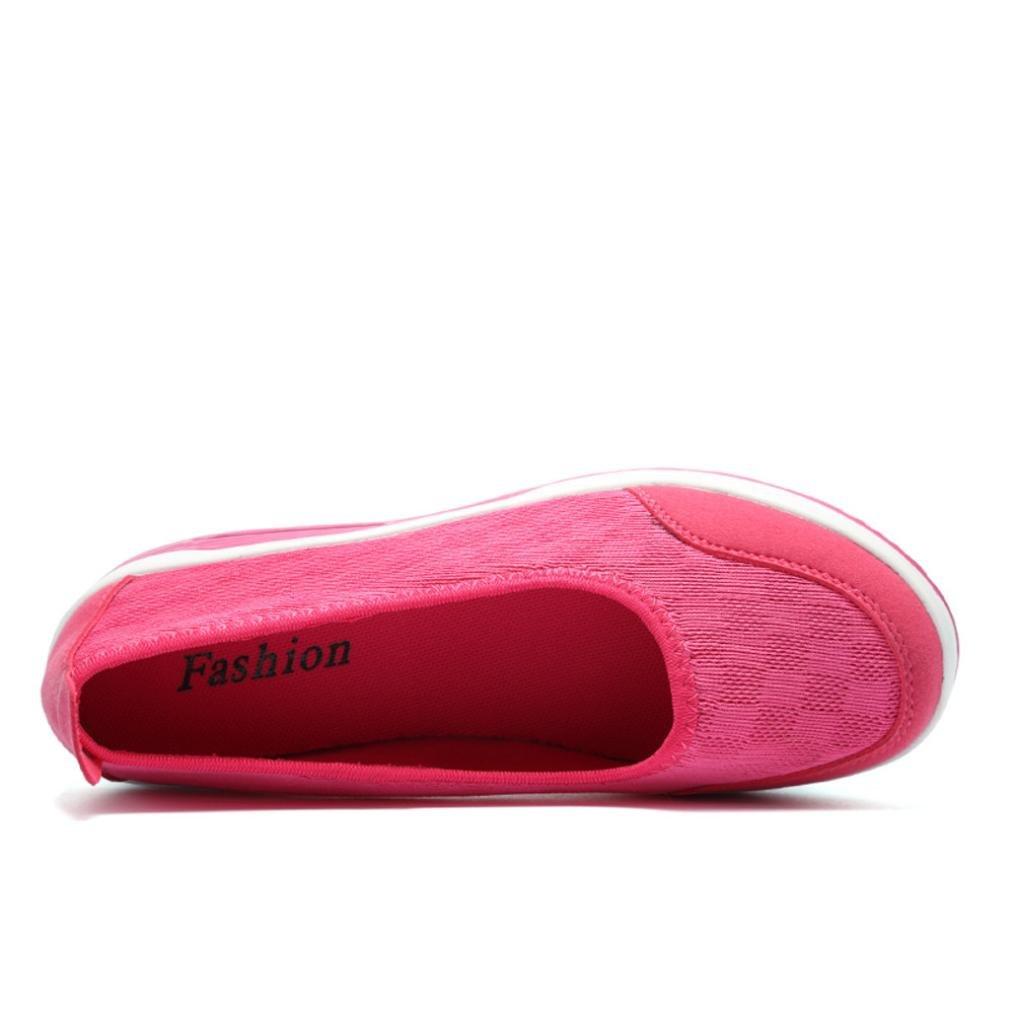 Sneaker Damen, Sonnena Frauen Mode Mesh Atmungsaktiv Turnschuhe Sportschuhe Damen Bequem Knöchel Plateau Schuhe Leichtgewicht Freizeit Knöchel Schuhe 35-40