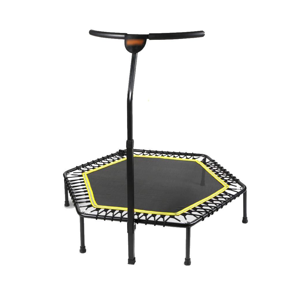 Gartentrampoline Trampoline Silent Fitness mit verstellbarem Handlauf, 50 Zoll Urban Cardio Workout Heimtrainer 242 £ für Erwachsene und Kinder