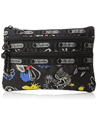 LeSportsac 8268 G057 3 Zip Cosmetic Bag, Chalkboard Snoopy, One Size