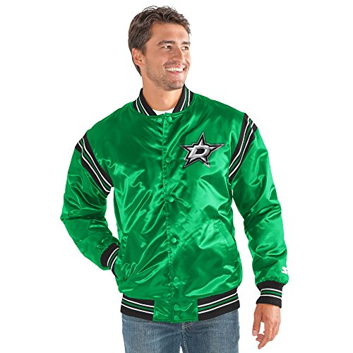STARTER NHL Dallas Stars Men's The Enforcer Satin Jacket, Medium, Green