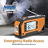 NOAA Emergency Weather Radio,Portable Solar Hand